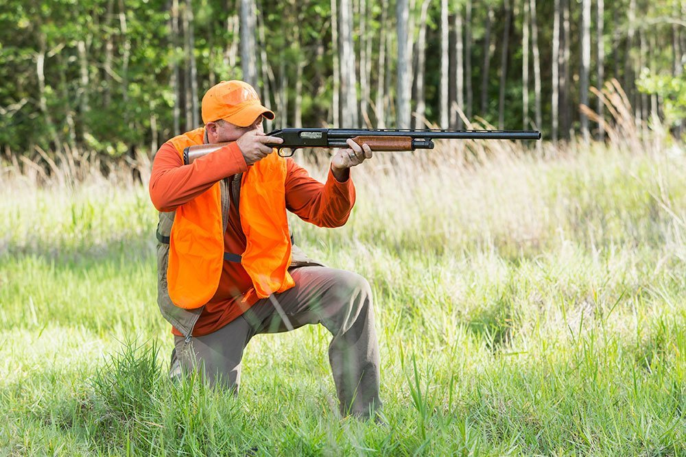 basic shooting position kneeling