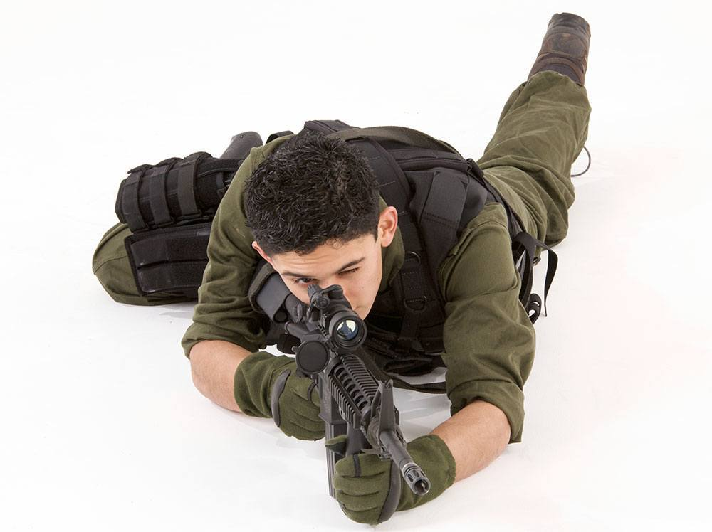 basic shooting position prone